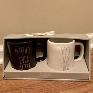 Rae Dunn BEST DAY EVER/HAPPILY EVER AFTER Mug Set
